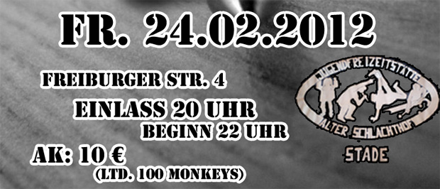 13th monkey, 100blumen, saal5 live in stade
