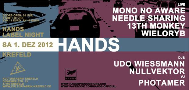 13th monkey @ hands label night