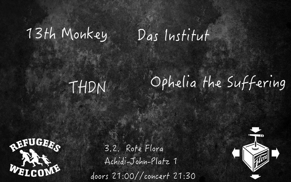 13th monkey, das institut, thdn live @ rote flora hamburg