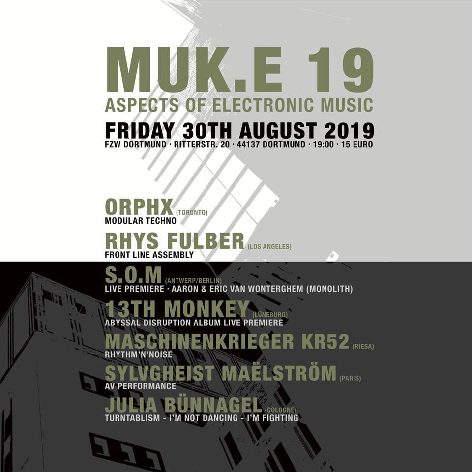 13th Monkey live @ MUK.E 19 at FZW Dortmund
